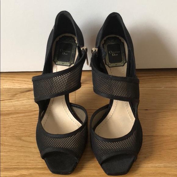 Dior Shoes | Christian Dior Black Mesh